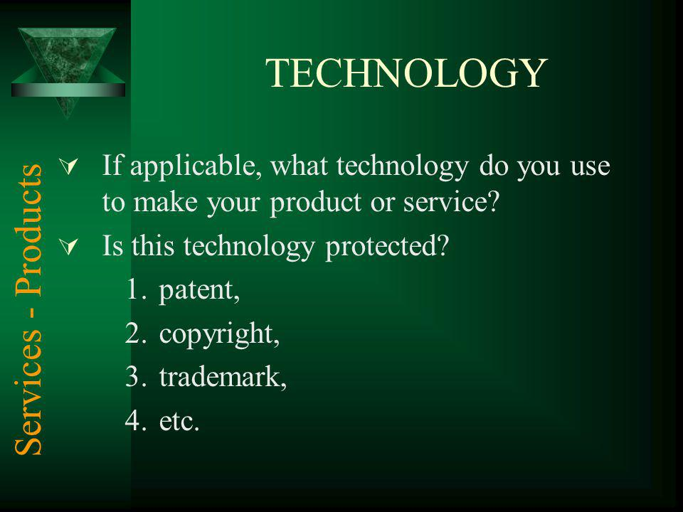 TECHNOLOGY Services - Products