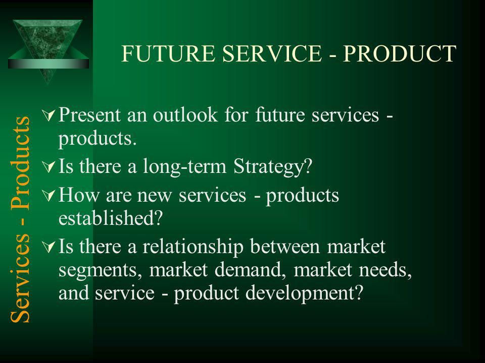 FUTURE SERVICE - PRODUCT