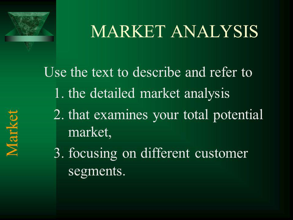 MARKET ANALYSIS Market the detailed market analysis