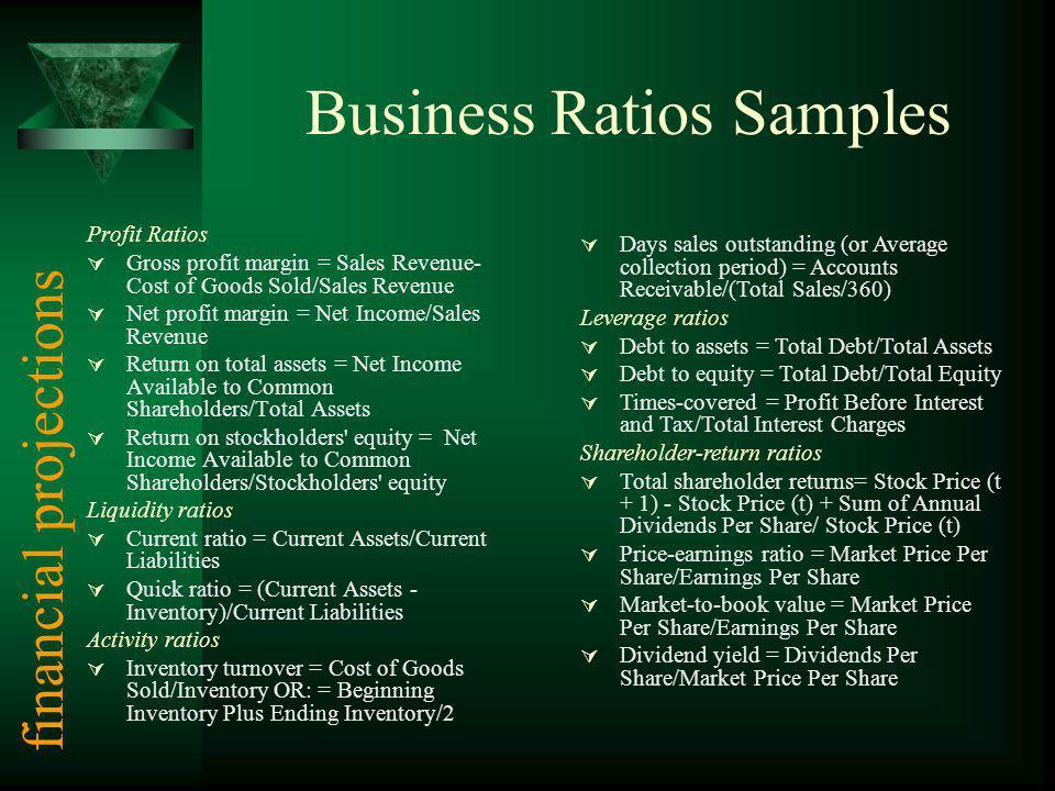 Business Ratios Samples