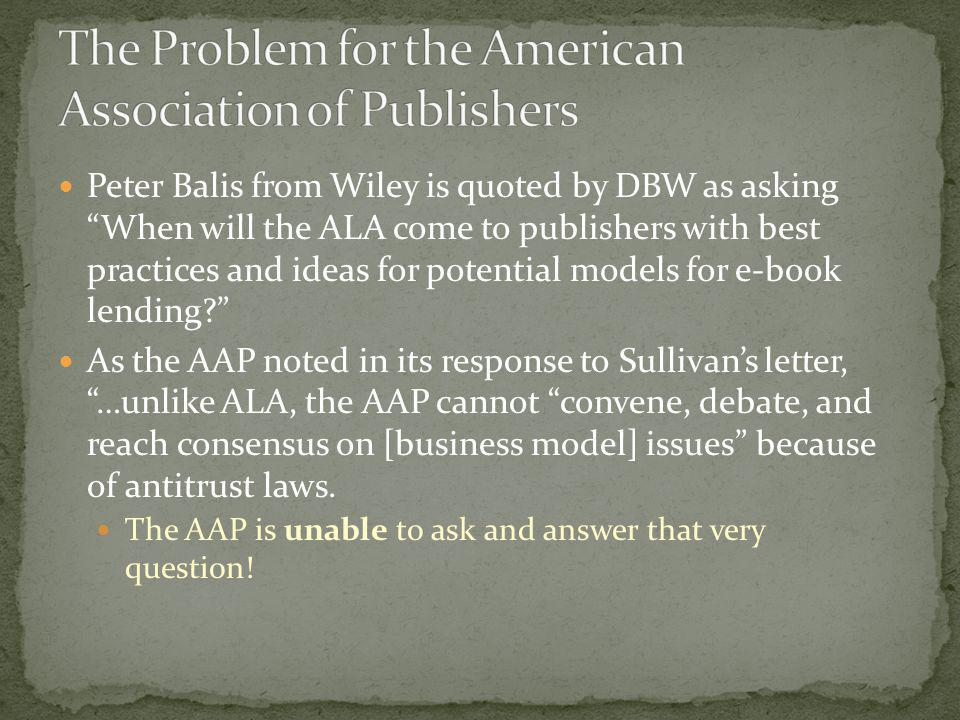 The Problem for the American Association of Publishers