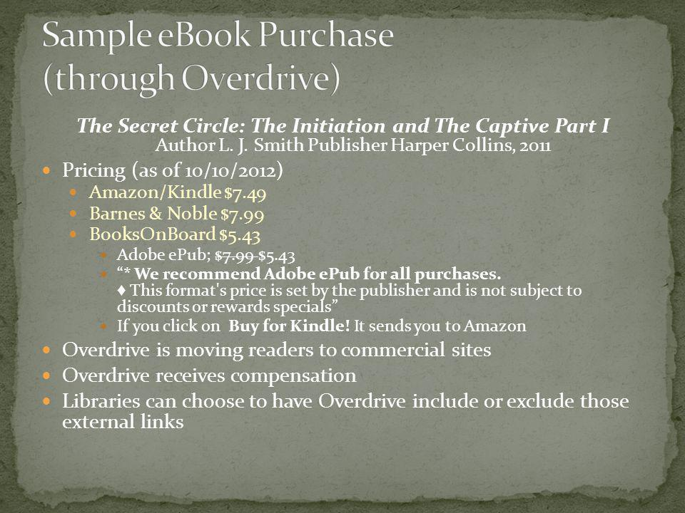 Sample eBook Purchase (through Overdrive)