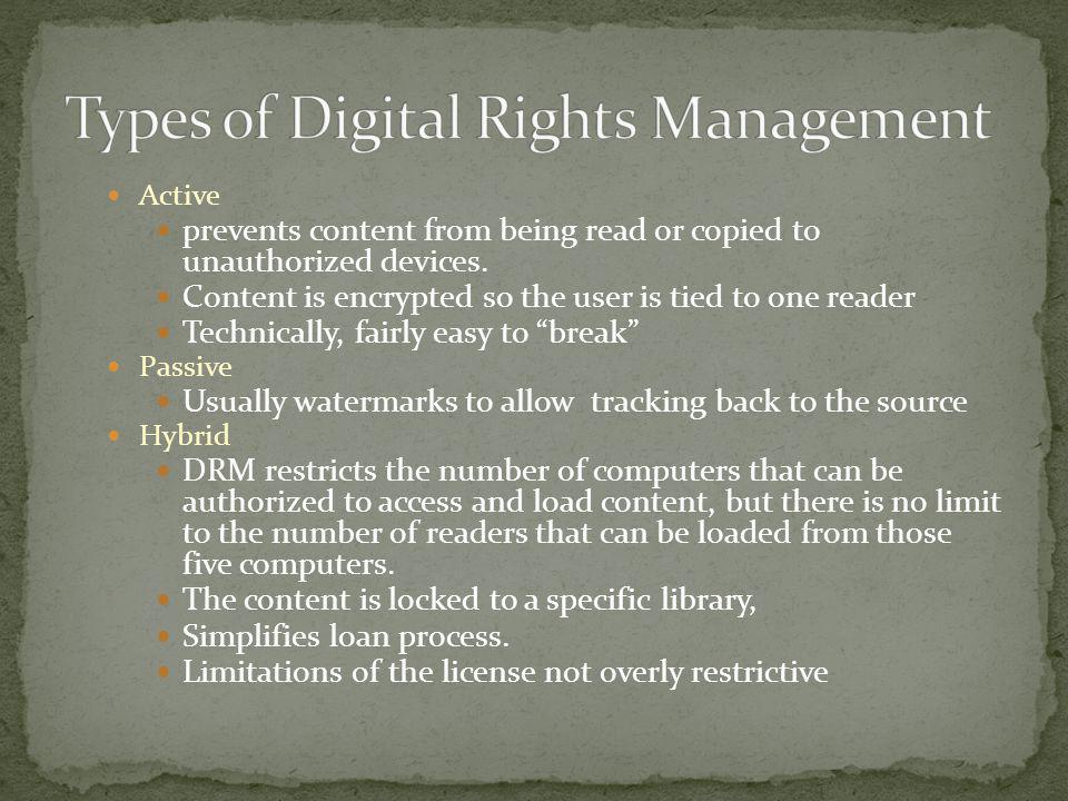 Types of Digital Rights Management