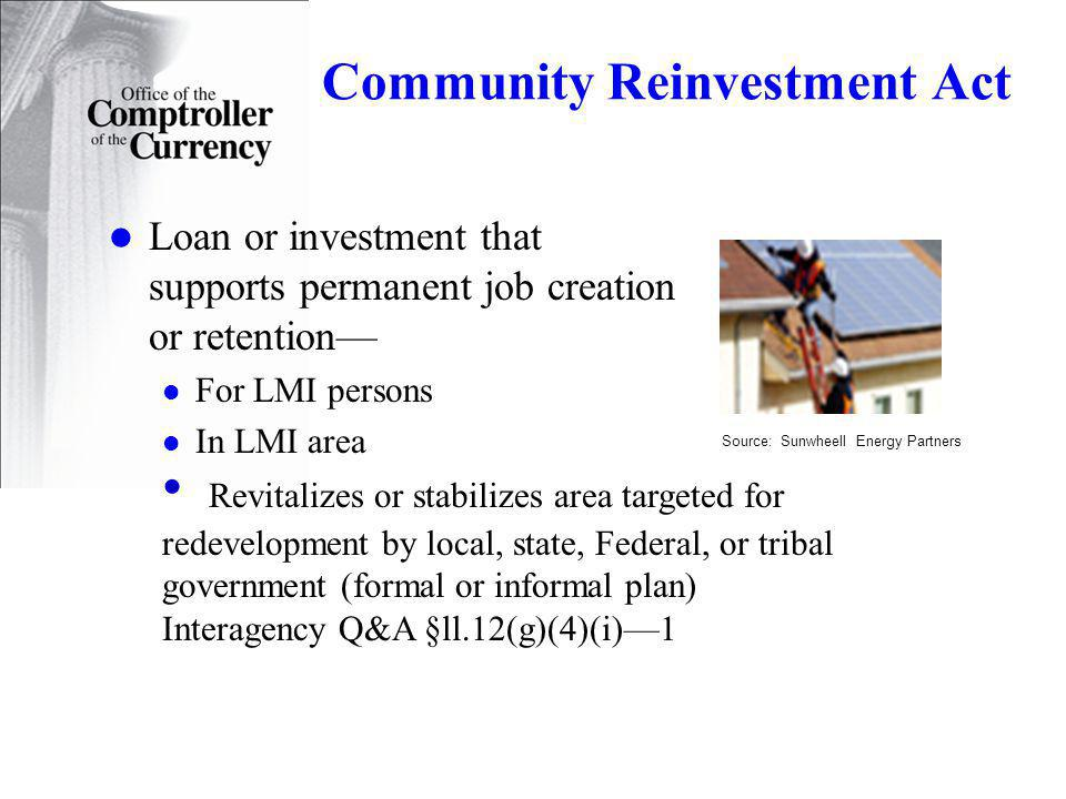 Community Reinvestment Act