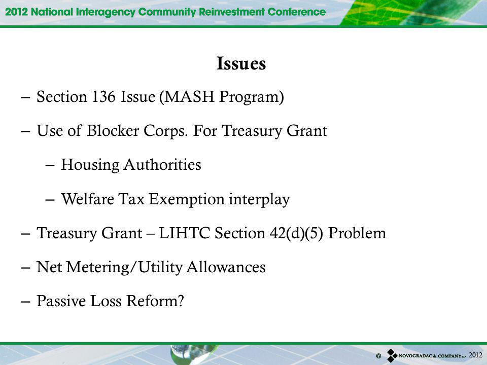 Issues Section 136 Issue (MASH Program)