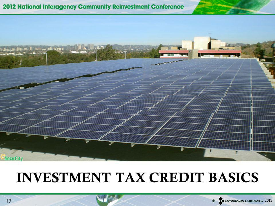 INVESTMENT TAX CREDIT BASICS