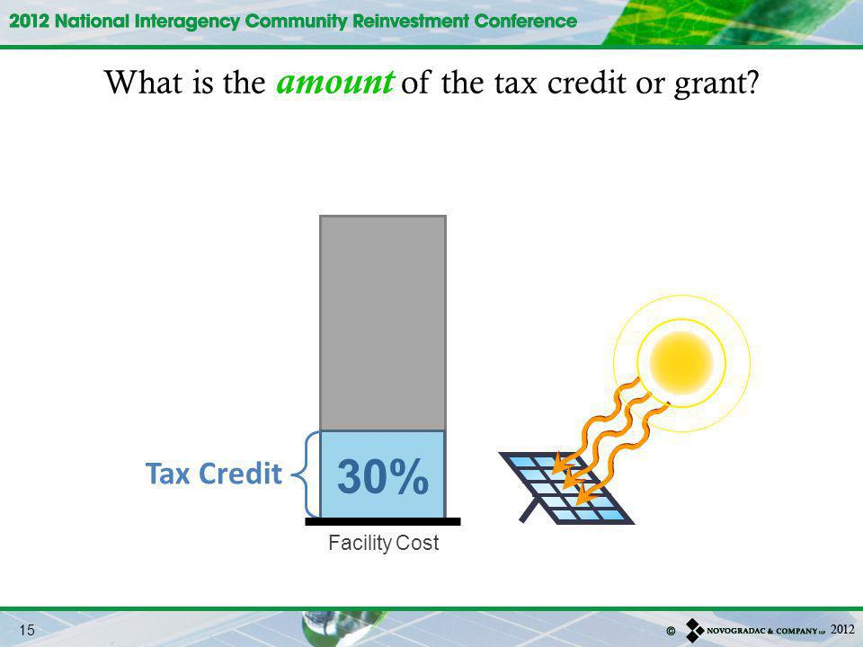 What is the amount of the tax credit or grant