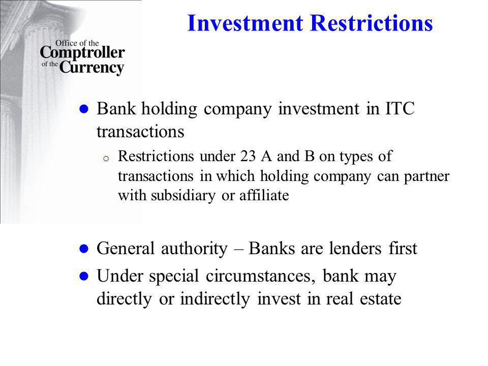 Investment Restrictions