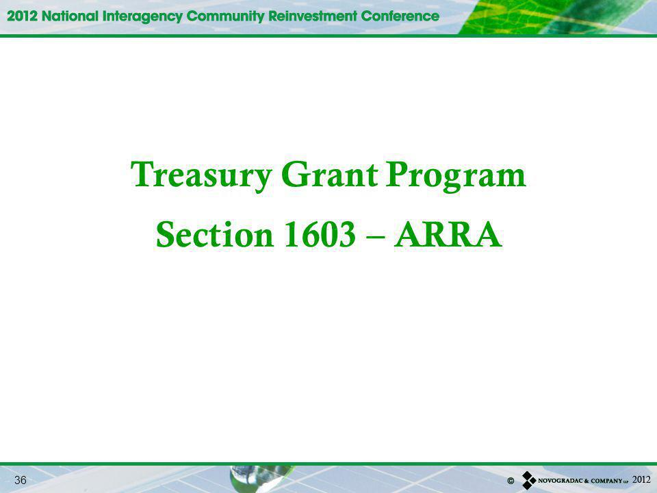 Treasury Grant Program
