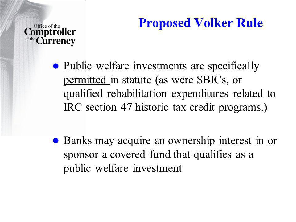 Proposed Volker Rule