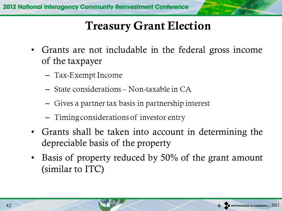 Treasury Grant Election