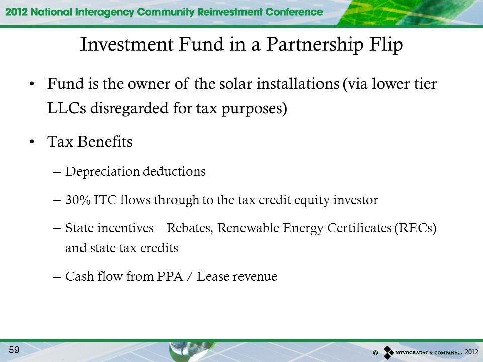 Investment Fund in a Partnership Flip