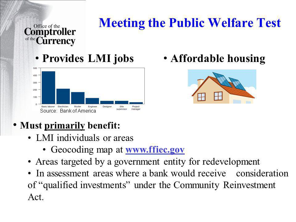 Meeting the Public Welfare Test