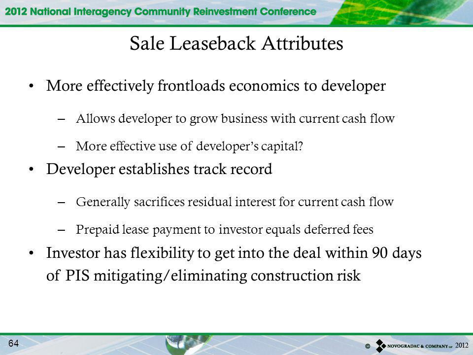 Sale Leaseback Attributes