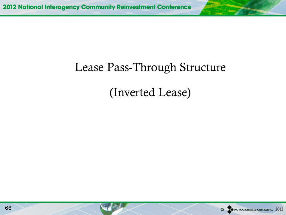 Lease Pass-Through Structure