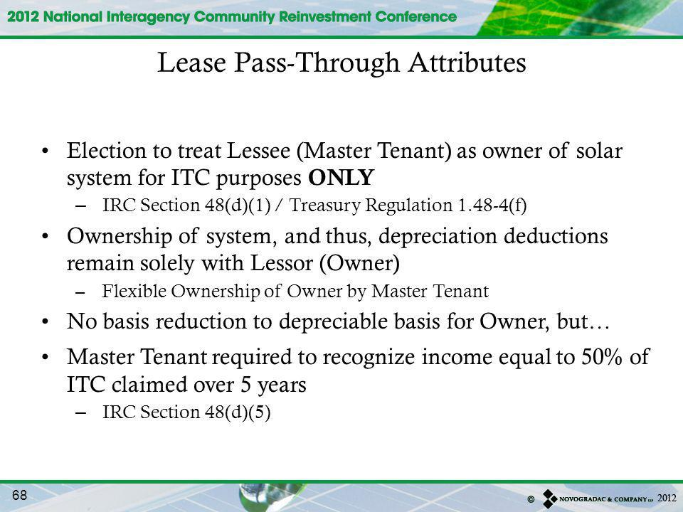 Lease Pass-Through Attributes