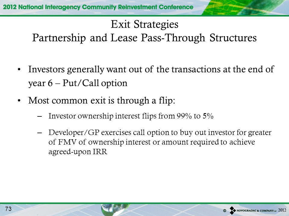 Partnership and Lease Pass-Through Structures