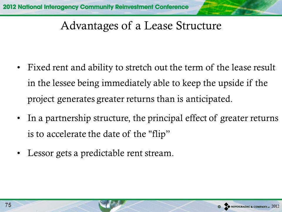 Advantages of a Lease Structure