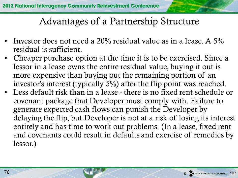 Advantages of a Partnership Structure