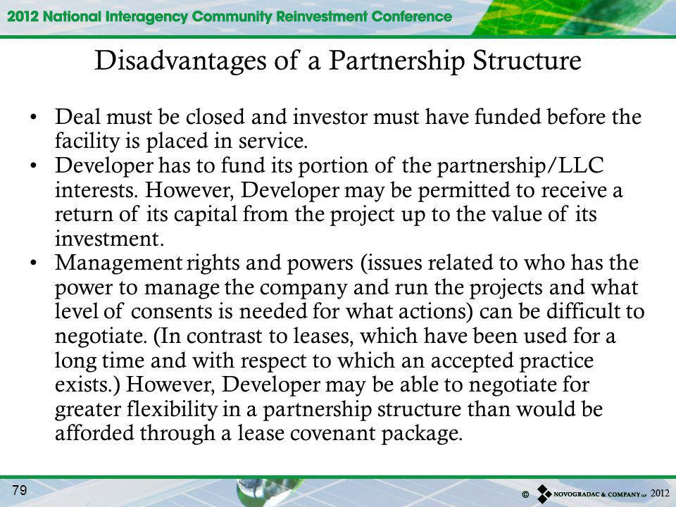 Disadvantages of a Partnership Structure