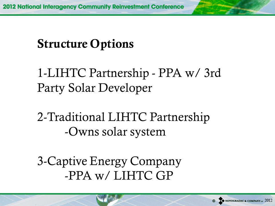 1-LIHTC Partnership - PPA w/ 3rd Party Solar Developer