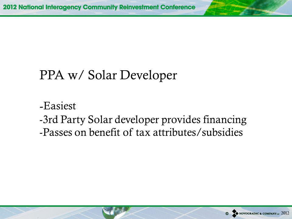 PPA w/ Solar Developer -Easiest