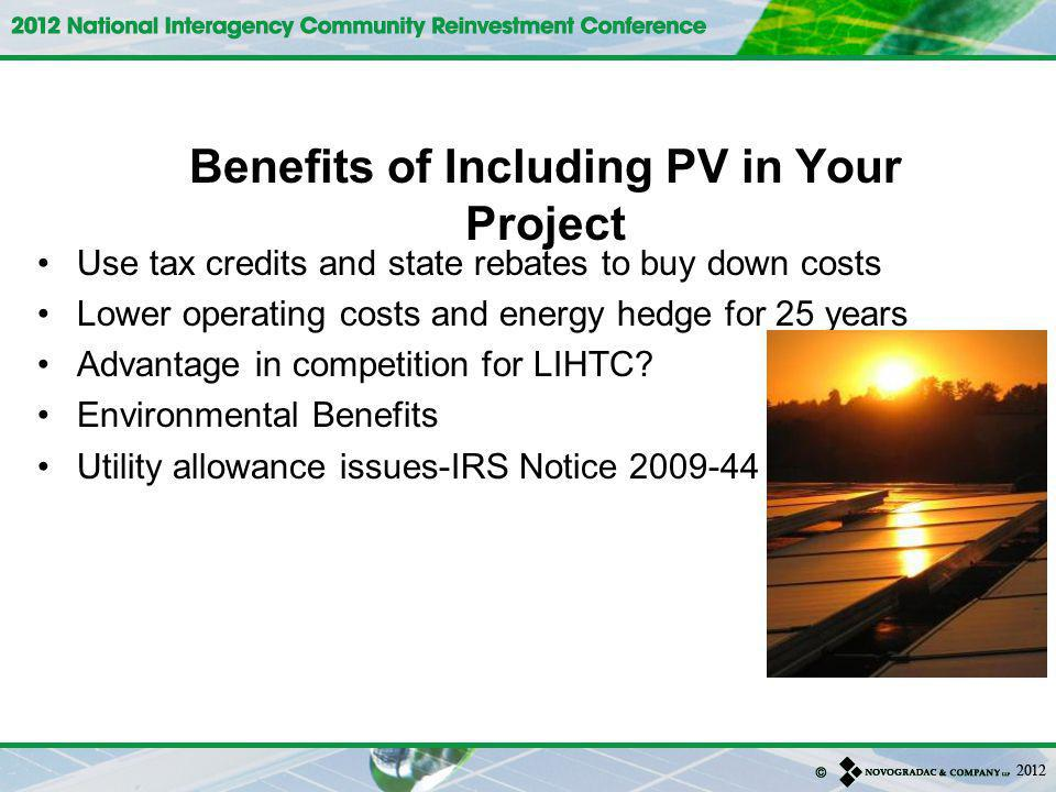 Benefits of Including PV in Your Project