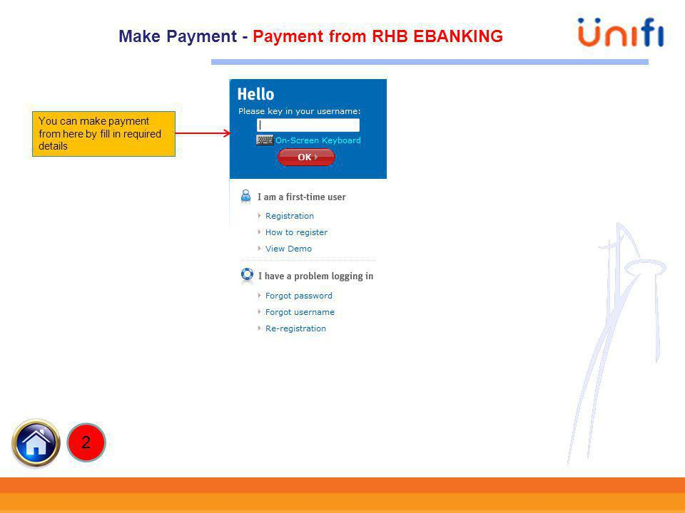 Make Payment - Payment from RHB EBANKING