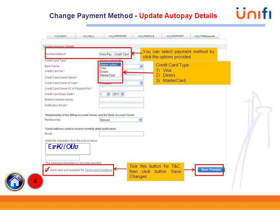Change Payment Method - Update Autopay Details