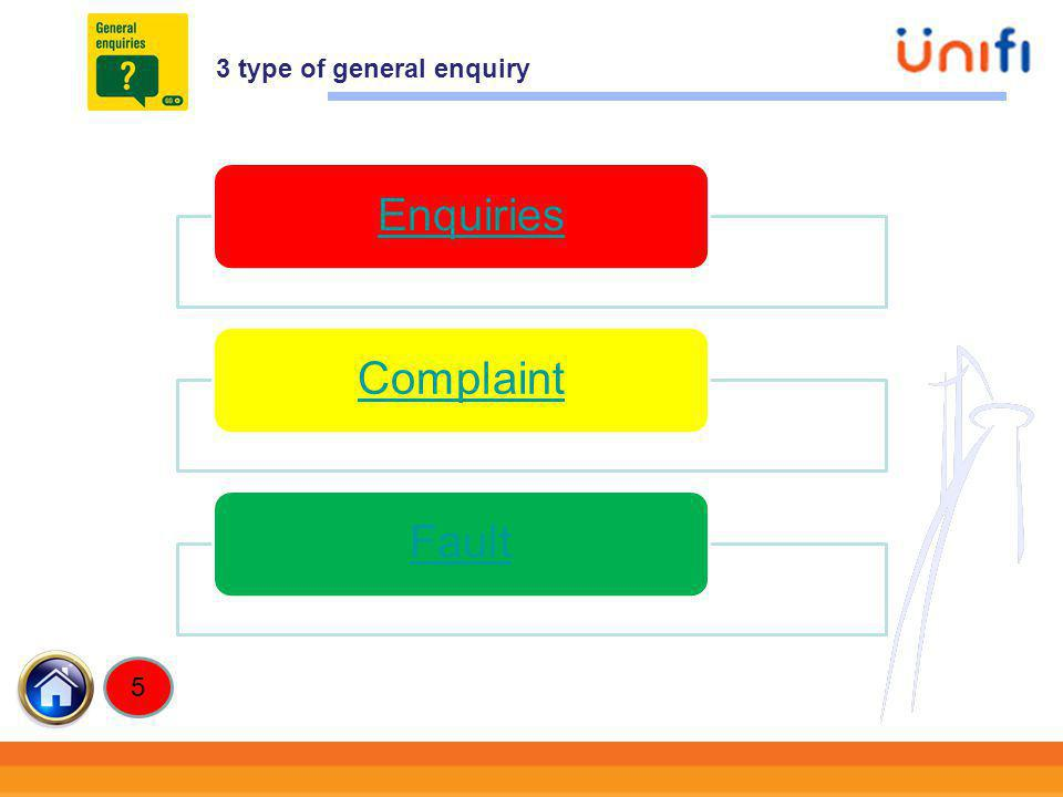 3 type of general enquiry