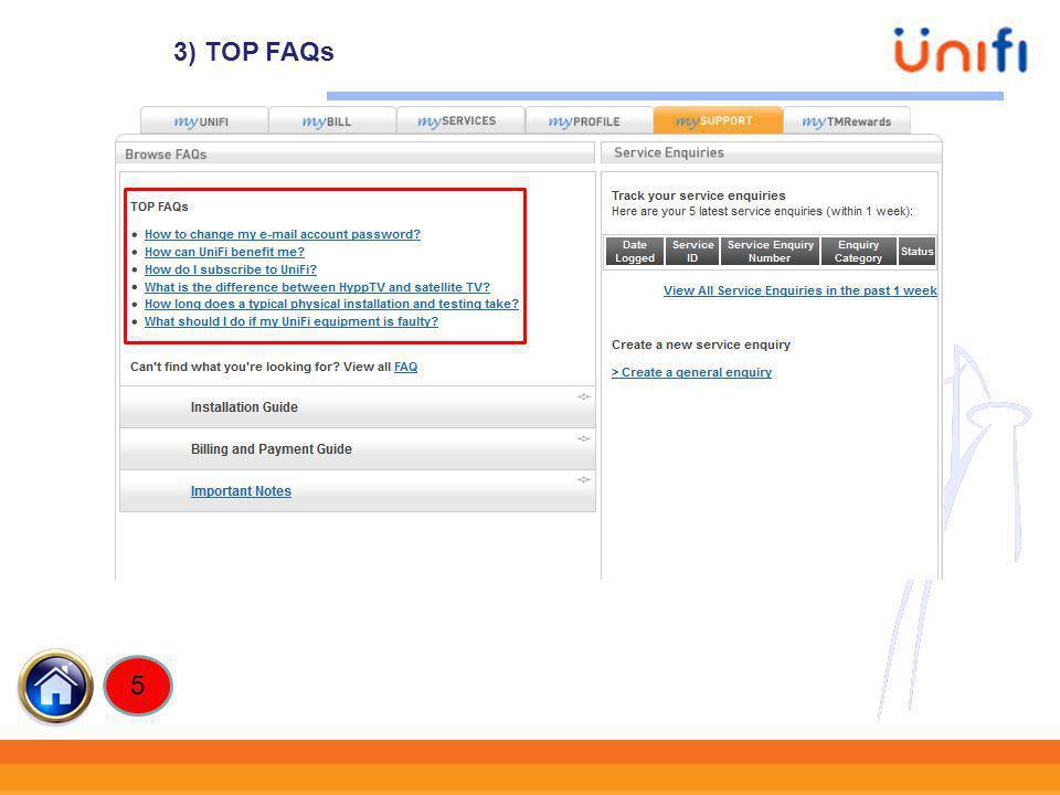3) TOP FAQs 5