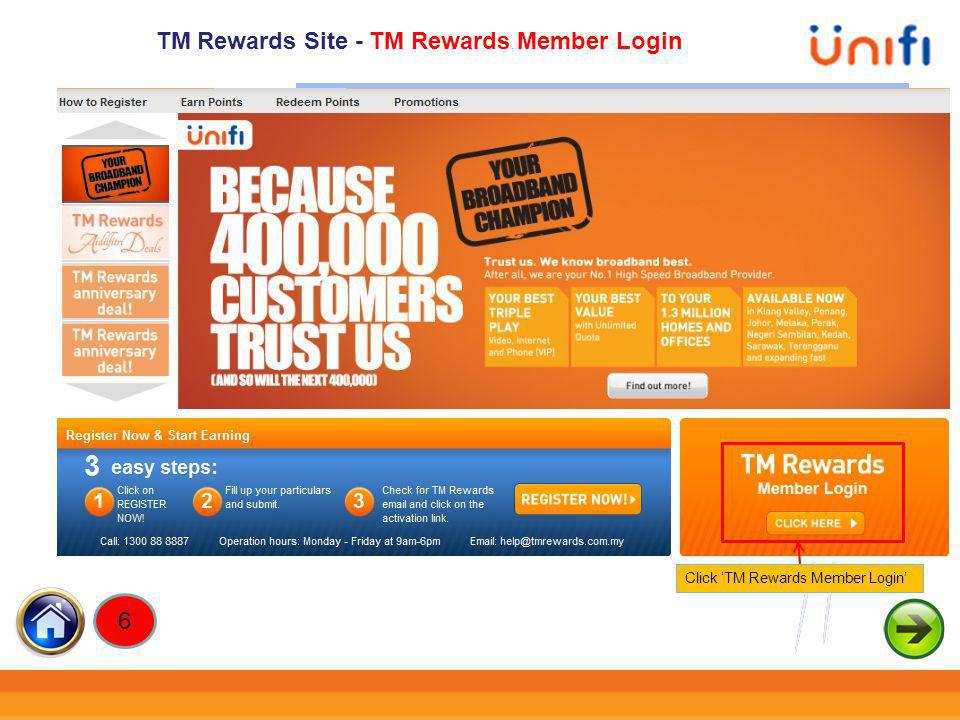 TM Rewards Site - TM Rewards Member Login