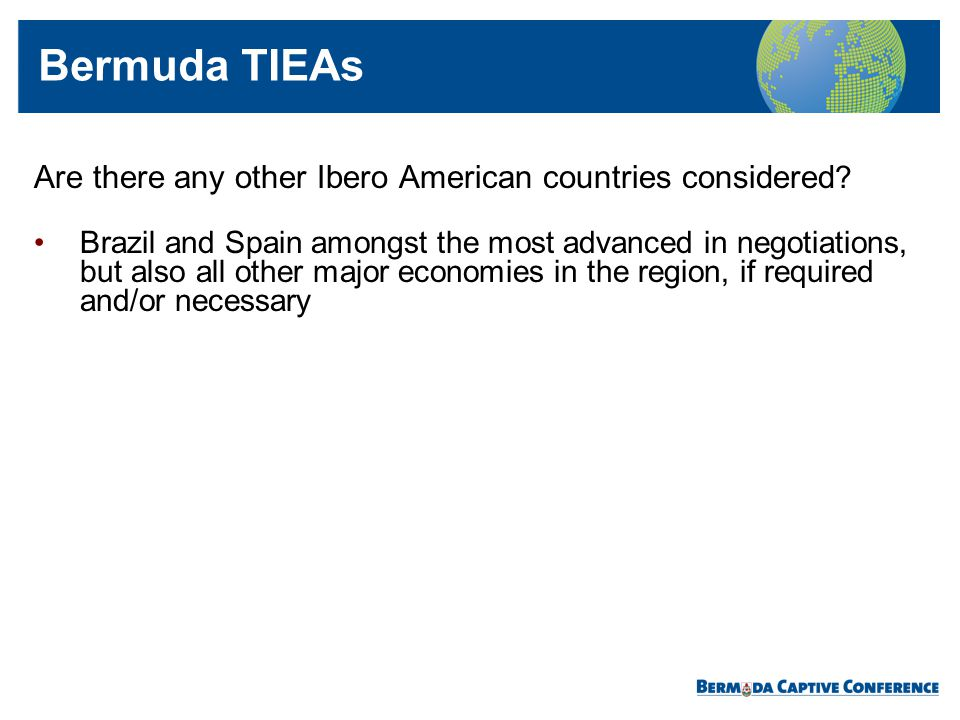 Bermuda TIEAs Are there any other Ibero American countries considered