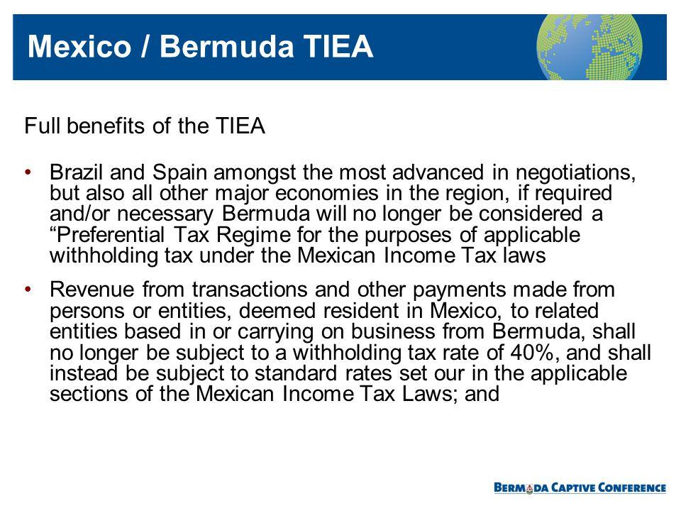 Mexico / Bermuda TIEA Full benefits of the TIEA