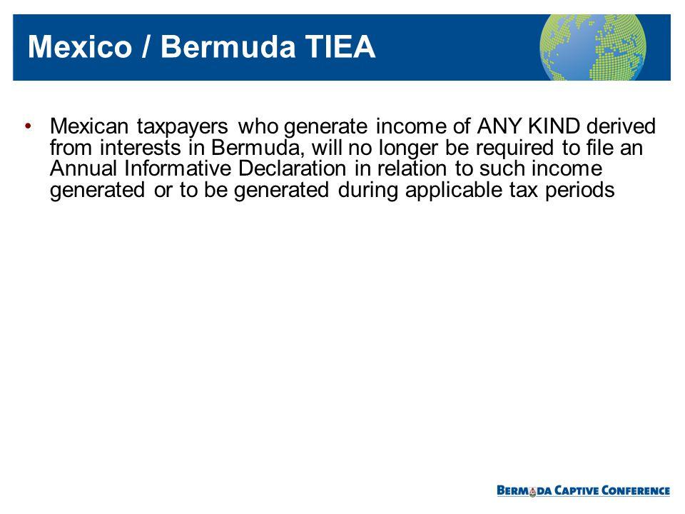 Mexico / Bermuda TIEA