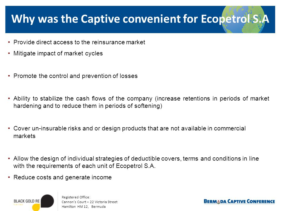 Why was the Captive convenient for Ecopetrol S.A