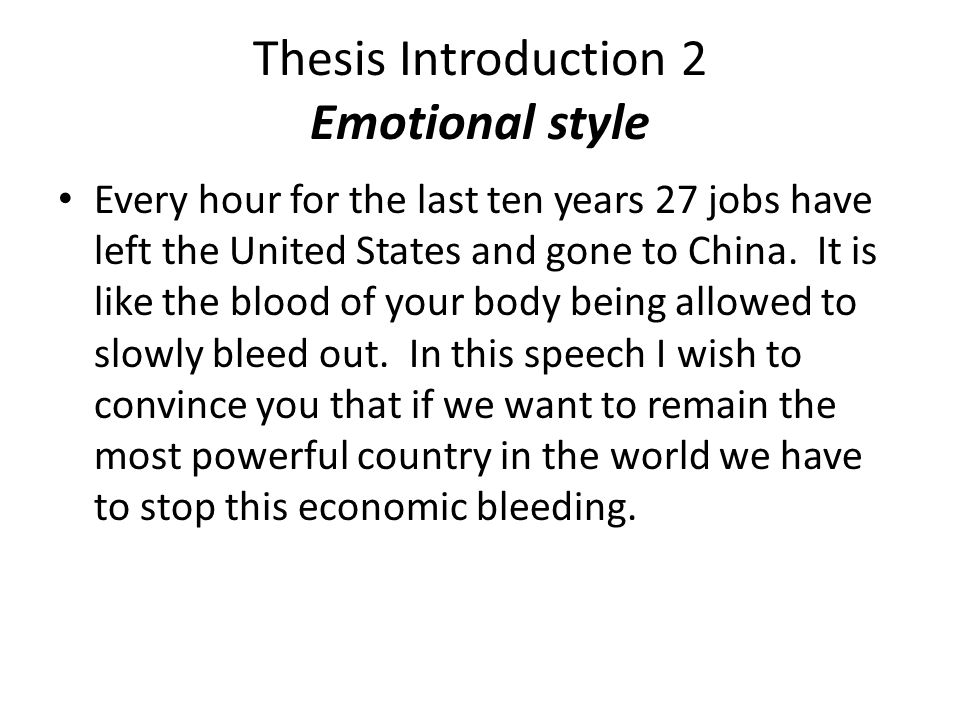 Thesis Introduction 2 Emotional style