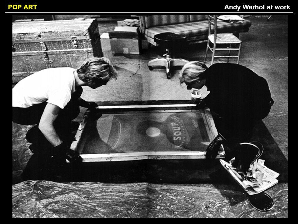 Andy Warhol at work