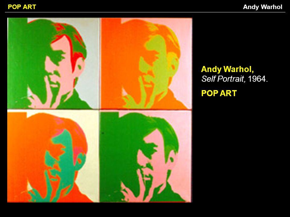 Andy Warhol, Self Portrait, 1964. POP ART