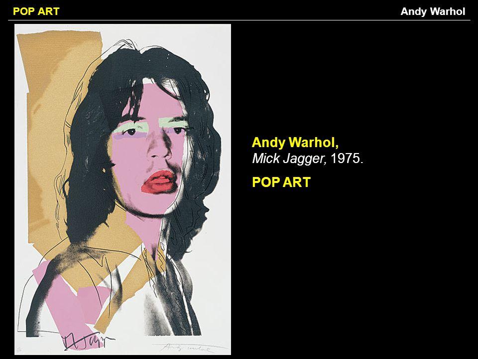 Andy Warhol, Mick Jagger, 1975. POP ART