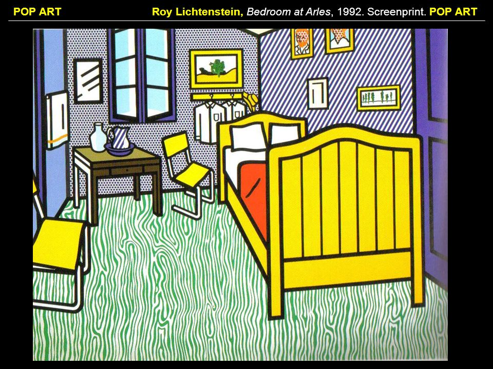 Roy Lichtenstein, Bedroom at Arles, 1992. Screenprint. POP ART