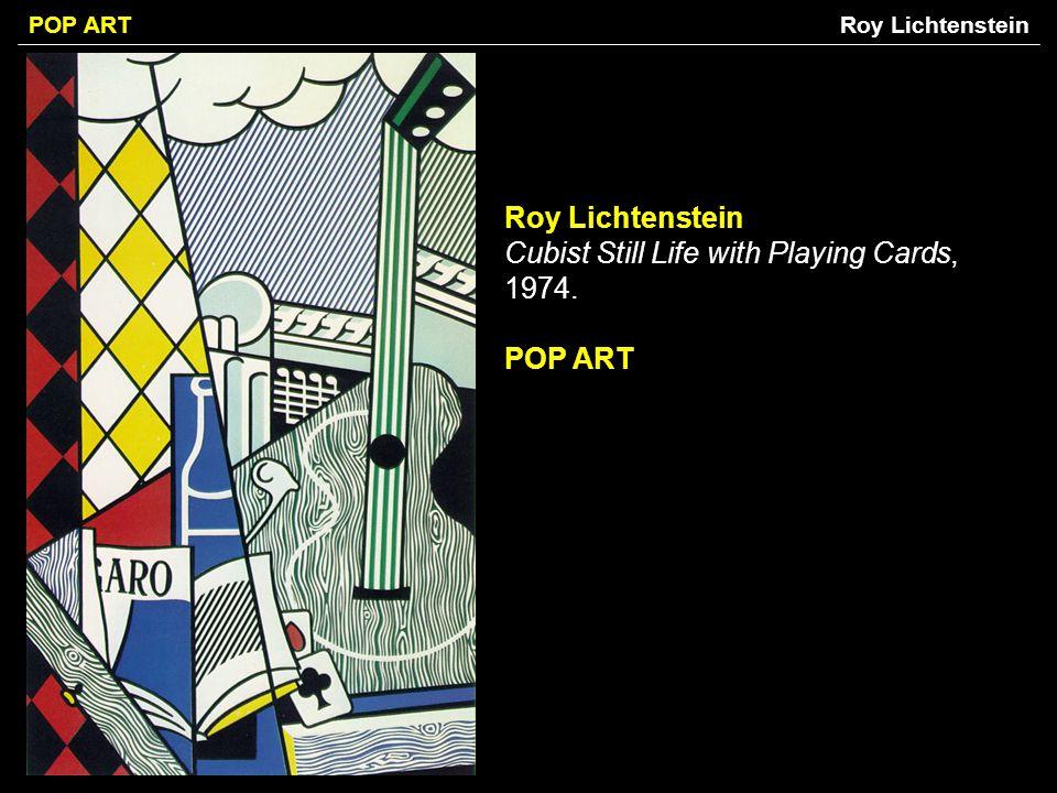 Roy Lichtenstein Cubist Still Life with Playing Cards, 1974.