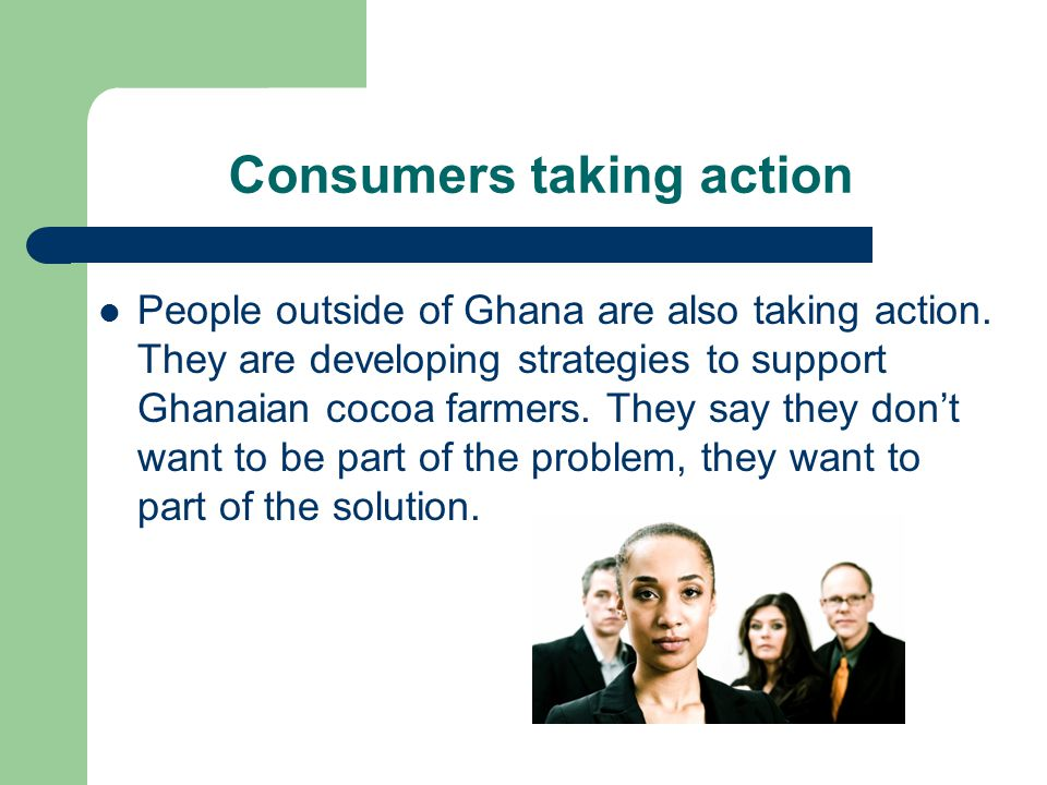 Consumers taking action