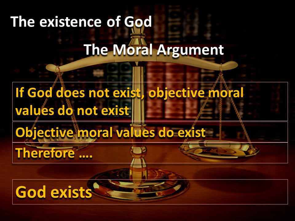God exists The existence of God The Moral Argument