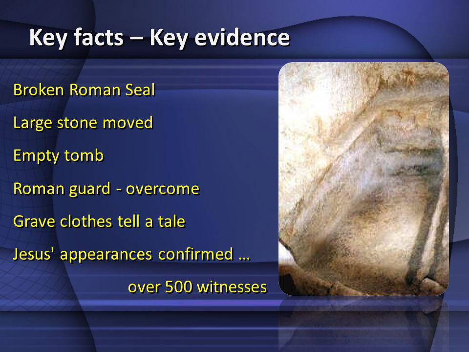 Key facts – Key evidence