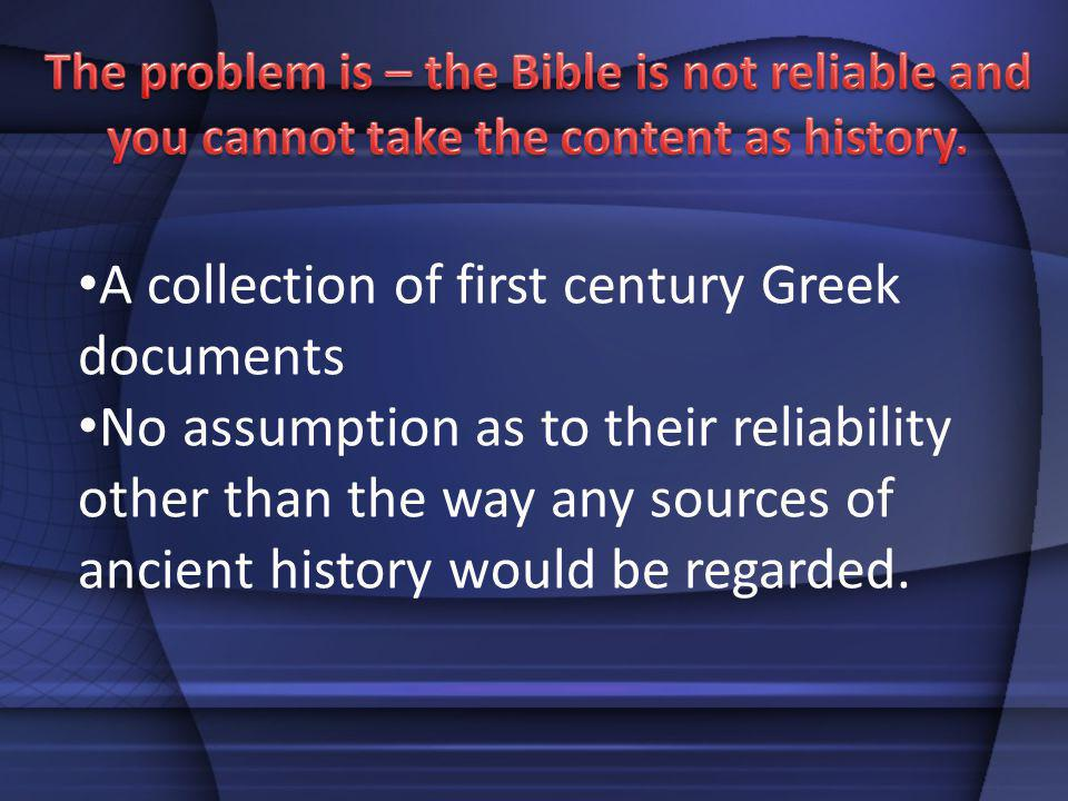 A collection of first century Greek documents