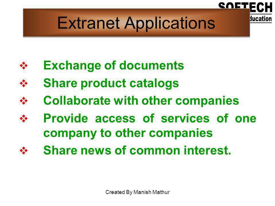 Extranet Applications