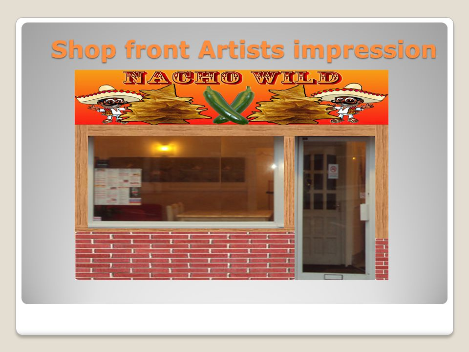 Shop front Artists impression