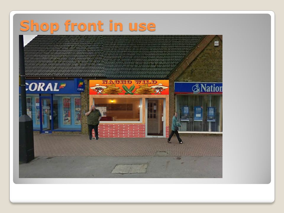 Shop front in use