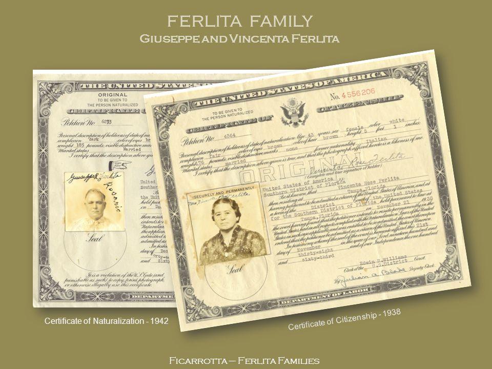 Giuseppe and Vincenta Ferlita
